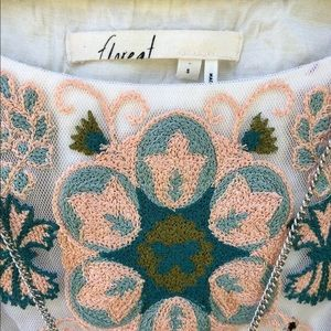 Anthropologie Tops - Anthropologie Floreat Cascada embroidered tunic S
